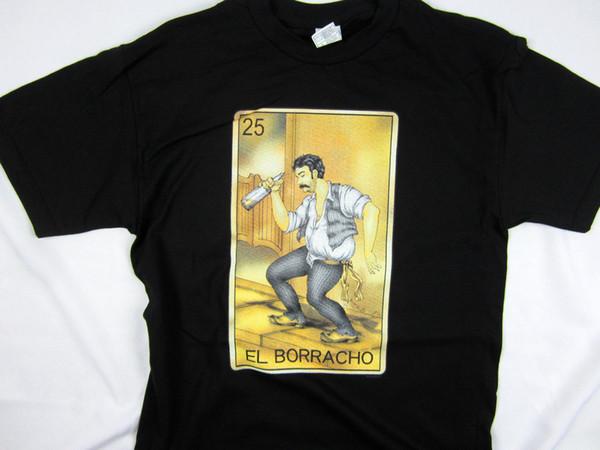 EEl Borracho Loteria drunk Spanish Mexico Card game short sleeve men's tee shirt Men T-Shirt Tops 2018 New Tee Print