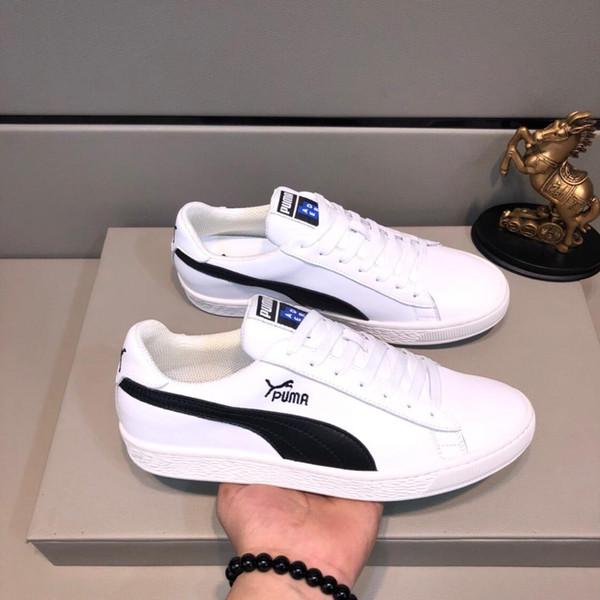 2019 nova edição limitada dos homens sapatos brancos planas, moda calçados esportivos, confortáveis low-top sapatos, embalagem caixa original: 38-44