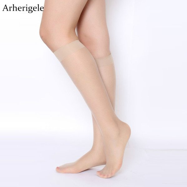 wholesale 20pcs 10pair Lady Solid Nylon Stockings Women Crystal Transparent Stockings for Summer Over Knee Highs Socks Hosiery