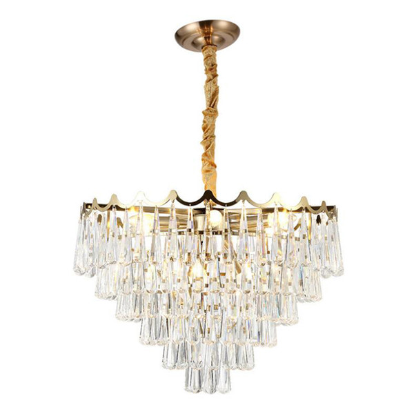 Luxury Modern Crystal Chandelier Gold Hanging Living Room Dining Room Lighting Luxury LED Crystal Chandeliers free UPS