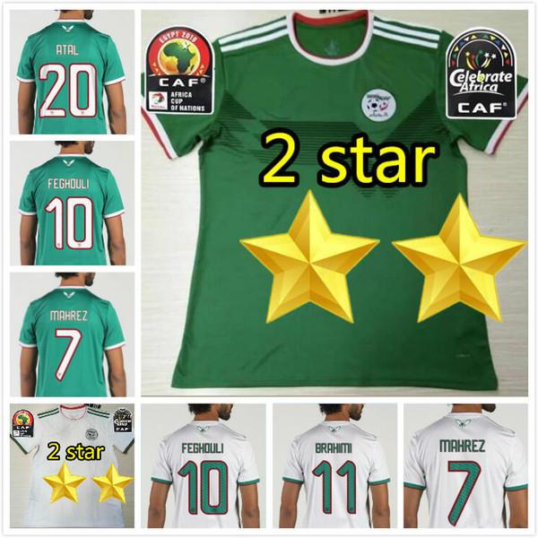 2019 Maglia da calcio Algeria casa fuori Coppa d'Africa 19 20 Algeria MAHREZ Bounedjah FEGHOULI SLIMANI Maglia da calcio Benguit