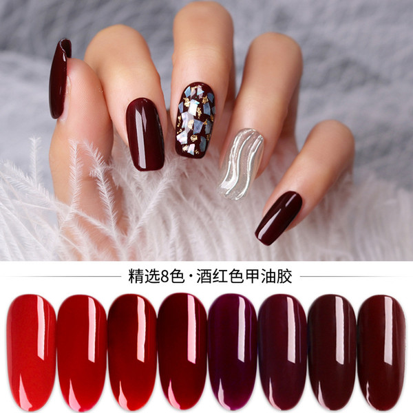 Michelle Manicure Wine Red Small Set Nail Polish 2019 Popular Colors Cherry Chinese Red Nail Uv Gel French Nails Gel From Beautyjay 6 1 Dhgate Com