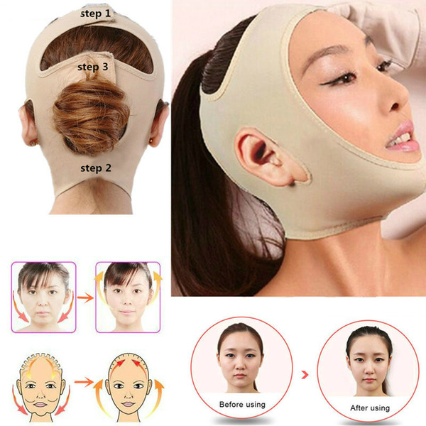 top popular Delicate Facial Thin Face Mask Slimming Bandage Skin Care Belt Shape And Lift Reduce Double Chin Face Mask Face Thining Band 2021