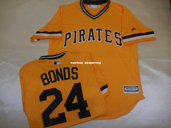 Cheap custom BARRY BONDS Cool Base JERSEY GOLD Stitched Customize any name number MEN WOMEN BASEBALL JERSEY XS-5XL