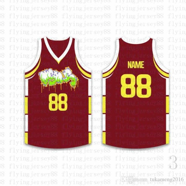 Top Custom Basketball Jerseys Mens Embroidery Logos Jersey Free Shipping Cheap wholesale Any name any number Size S-XXL ojif6