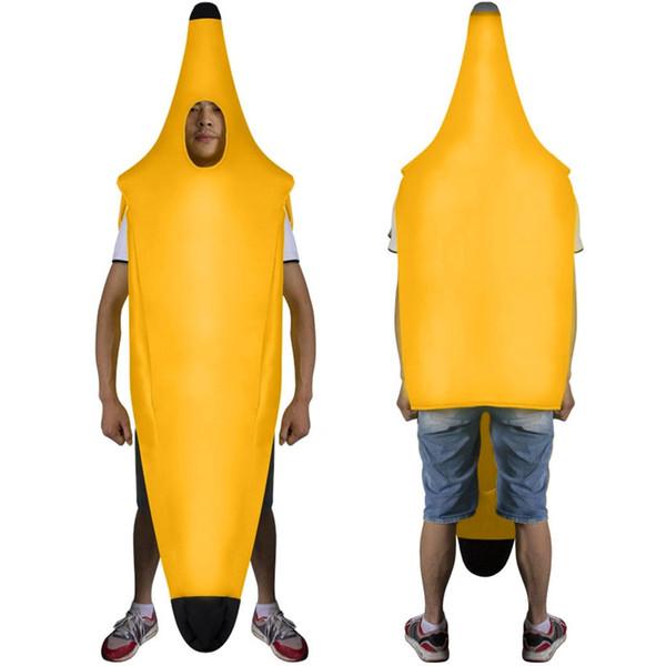 Traje de plátano cosplay atractivo divertido de los hombres de adulto Juego Fantasia Ropa apoyos de las decoraciones del partido de la novedad de Navidad Carnaval de Halloween