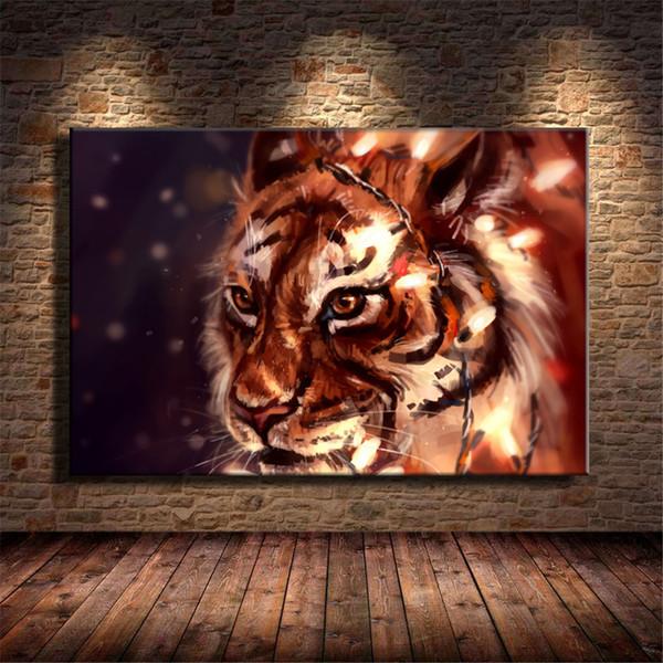 Tiger Artwork,HD Canvas Printing New Home Decoration Art Painting/Unframed/Framed
