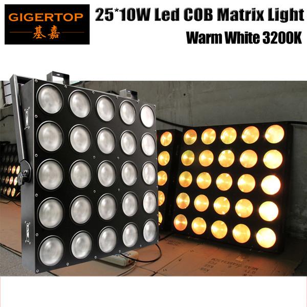 TIPTOP TP-M25 WHITE Beam Effect LED Matrix 25X10W Blinder Light 25x10W Warm White USA Lamp High Power Auto,Sound,DMX512
