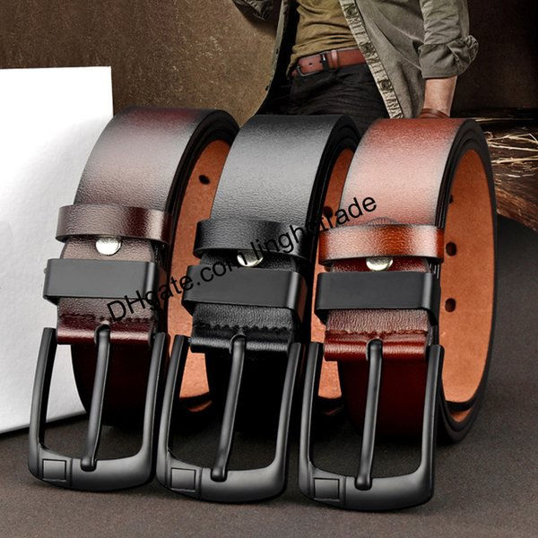 Cinturones de cuero de PU de alta calidad para hombre Cinturones de cuero de hombre desinger de calidad superior Cinturones para hombres Hebilla de aguja Cinturones de jeans masculinos vintage LH-P39