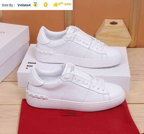 Liujingang6 Classic fashion couple models white leather sneakers SNEAKERS Dress Shoes Skate Dance Ballerina Flats Loafers Espadrilles Wedges