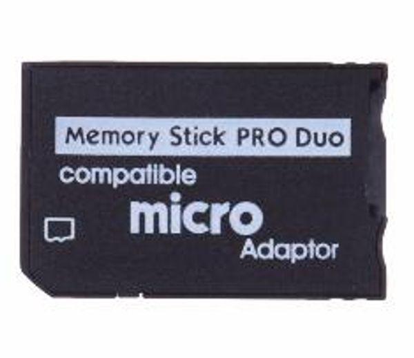 Micro SD para Memory Stick Pro Duo Adaptador Compatível MicroSD TF Conversor Micro SDHC para MS PRO Duo Leitor de Memory Stick para Sony PSP 1000