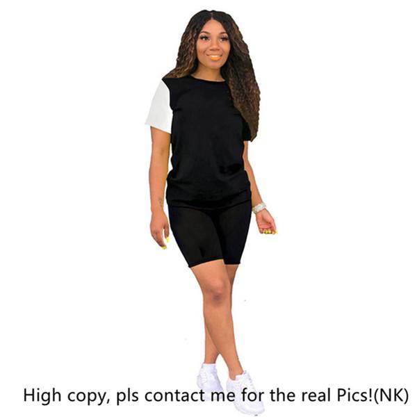 Femmes designer marque 2 pièces ensemble été survêtement sportswear survêtement survêtement t-shirt shorts sport ensemble tops leggings tenues tshirt vente chaude 896