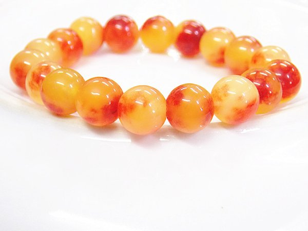 Natural red agate bracelet exquisite round beads chalcedony class hand string 10mm crystal couple jewelry Brazilian bracelet