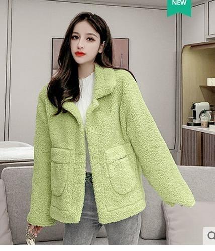 hiver veste en peau de mouton Manteaux d'hiver coréenne femmes manches longues poche femmes Veste en laine lambswool femme coatt T191029