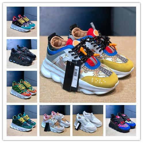 Pelle Sneakers Runner Snow Leopard Suede Bianco Nero Reazione a catena di lusso Scarpe Uomo Donneversace donne di modo formatori scarpe 0