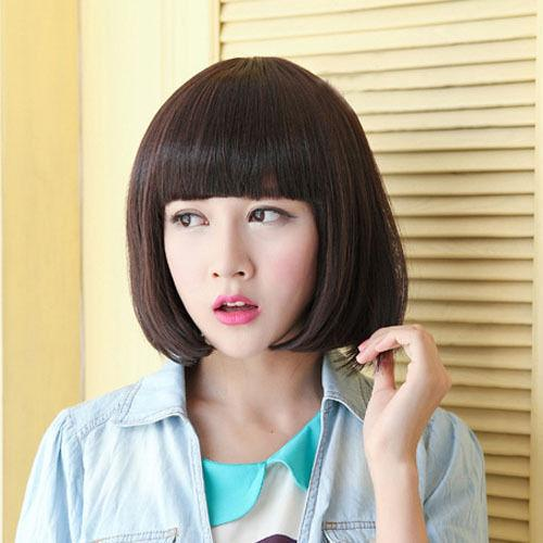 Fashion Womens Short Straight Bob Hair Full Cosplay Wig USPS free Shipping 150307