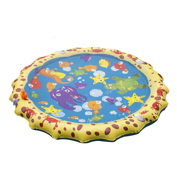 Bien! Jeux de natation en plein air de jeux de tapis de plage Coussin de pelouse pour arroseur Jouets Tapis de camping pour enfants
