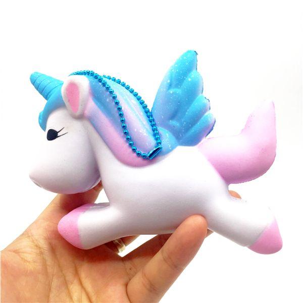 Original Kawaii Unicorn Squishy Jumbo Lento Aumento Bonito Tiras de Telefone Pingente Macio Squeeze Bolo Pão Perfumado Fun Toy Kids Presente