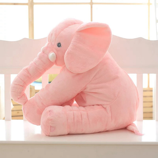 Novo 80 cm Bonito elefante rosa boneca de brinquedo de pelúcia Calmante travesseiros Dormindo boneca Macia animais de pelúcia boneca infantil brinquedos menina presente