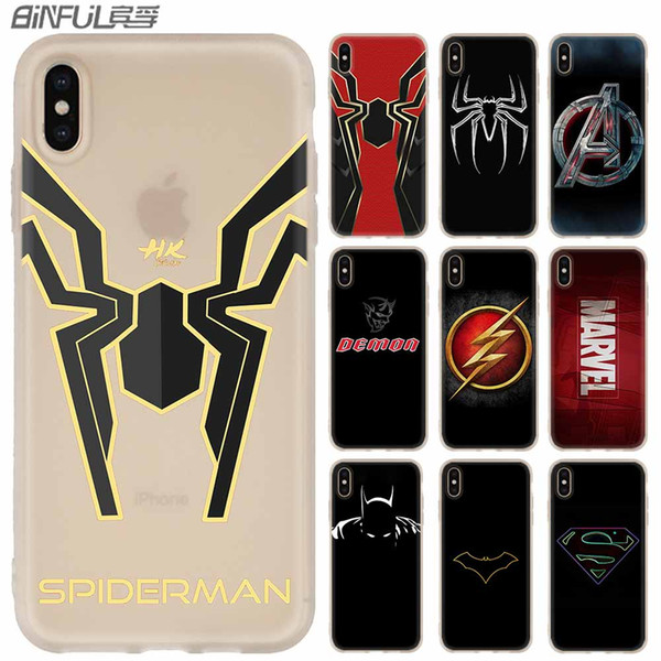 luxury marvel comics logo phone cases luxury silicone soft cover for iphone xi r 2019 x xs max xr 6 6s 7 8 plus 5 4s se coque