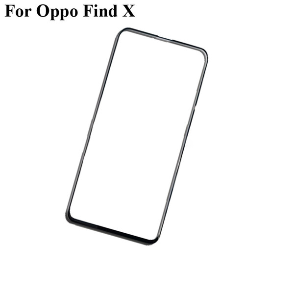 2PCS For Oppo Find X Outer Glass Lens touchscreen Edge Touch screen Outer Screen For OPPO FindX find X Glass Cover without flex