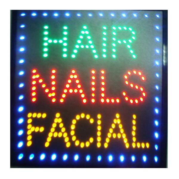 Led güzellik salonu kuaför burcu billboard led neon işık animasyonlu elektronik animasyonlu led burcu 48X48 CM kapalı