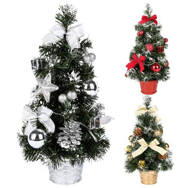 40 cm Árvore De Natal Flowerpot Wedding Festival Decoração Do Partido Presente de Natal Casa Desktop Decoração Ano Novo Decoração