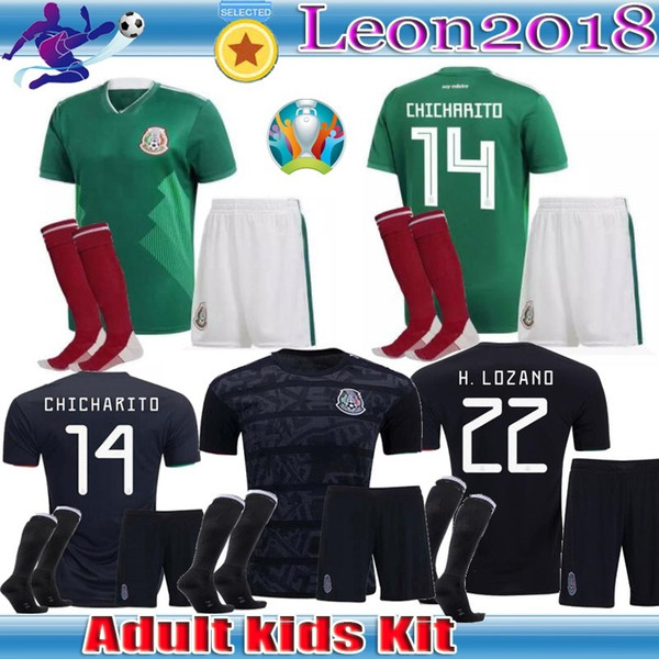 520cc479a Kid kit 2019 gold cup mexico occer jer ey home black 19 20 chicharito h  lozano youth child football jer ey et hirt - dhgate.com - imall.com