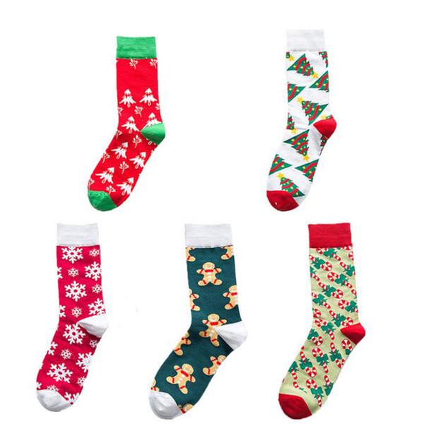 Black Friday heiße Art Herbst und Winter 2019 neue Art und Weise Trend Weihnachtssocken kreative Männer und Frauen Paare Stil in Schlauch-Socken