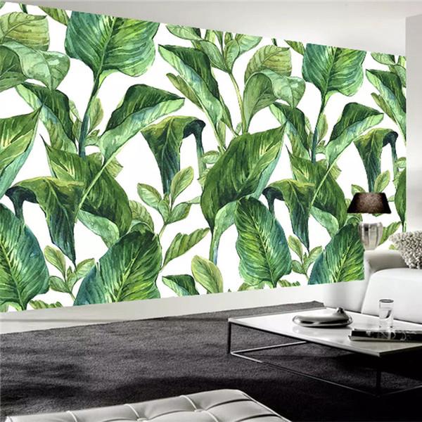 Custom Any Size Mural Wallpaper Modern 3d Green Banana Leaf Oil Painting Photo Wall Paper Living Room Tv Sofa Home Decor Fresco Computer Desktop