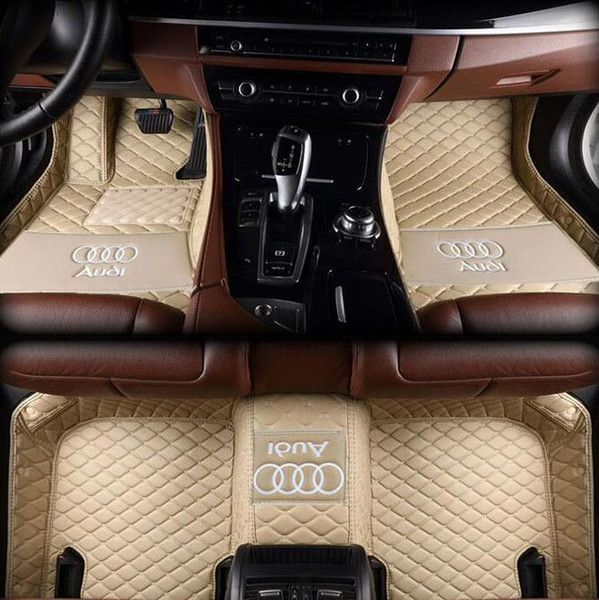 best selling Anti-skid PU Interior Waterproof Leather Floor Mat Environmentally Friendly Non-toxic Mat Applicable To Audi A6 2010-2019 Car Mat