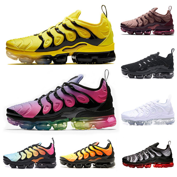 2019 fashion TN Plus Outdoor Shoes Opti Yellow Rainbow Smokey Mauve triple black Grape Fades Blue mens shoes women designer sports sneakers