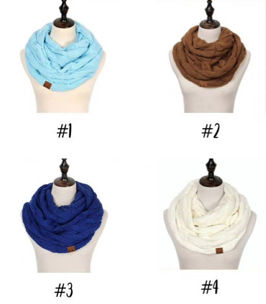 Fashion Men's and Women's Adult Scarf Autumn and Winter Warm Knitting Neckband 12 Colors Optional Long Solid Color Scarf