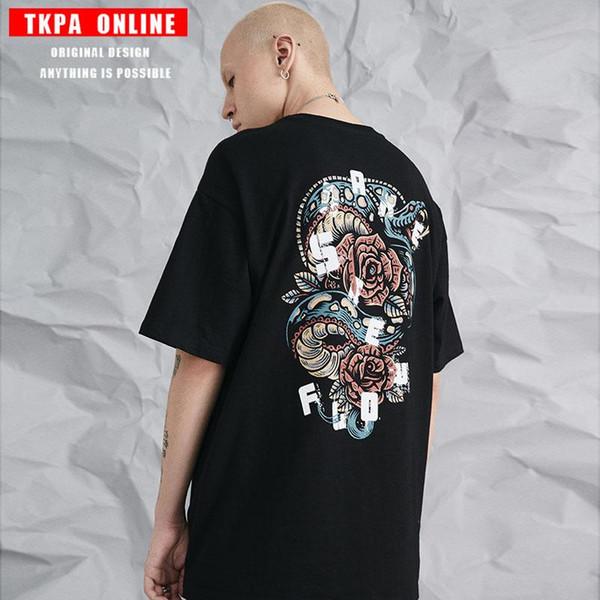 TKPA printemps et été 2019 T-shirt à manches courtes à manches courtes pour femmes, imprimé multicolore à la mode
