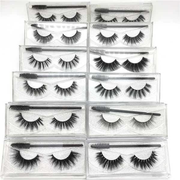 best selling 3D Mink Eyelash False Eyelashes Natural Long Fake Eyelash Extension with Portable Eyelashes Brush Thick Faux 3D Mink Eyelashes Eye Makeup