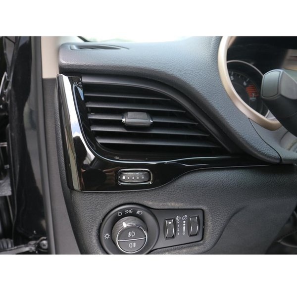 2pcs Chrome Dashboard Air Vent Cover Trim Fit For 2014 2015 2016 Jeep Cherokee Car Accessories Sticker