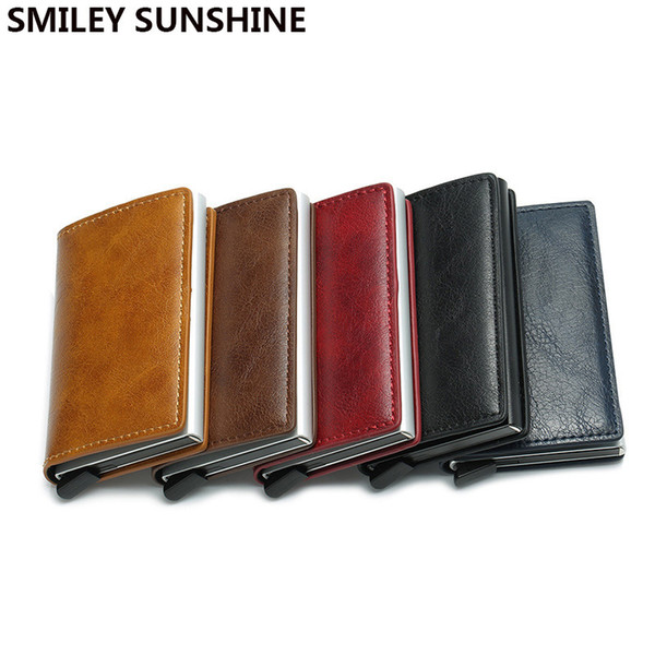 Rfid Card Holder Wallets For Men Money Bag Male Short Leather Wallet Small Slim Leather Smart Thin Wallets Purse Drop Shipping