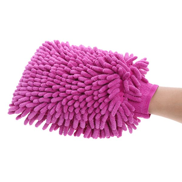26*19cm Ultrafine Fiber Chenille Anthozoan Car Wash Gloves Microfiber Car&Motorcycle Washer Supplies Car Care Brushes Cleaning