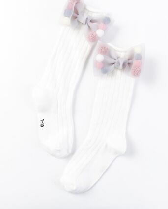 3e86173bfb9 5pairs 10pcs Cute Children Socks With Bows Toddlers Girls Knee High Socks  Cotton Long Boot