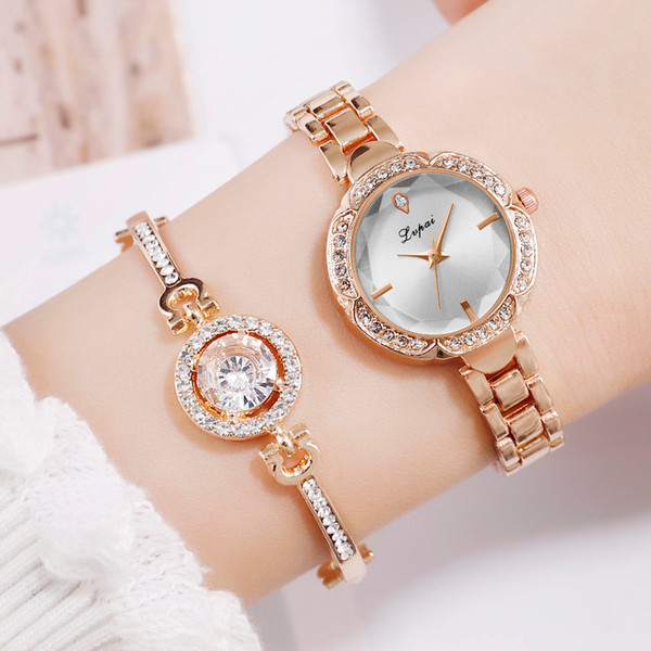 Simple Casual Small European Bracelet Watch ladies women Wrist watches gifts Wrist Party decoration Dress watch rose gold