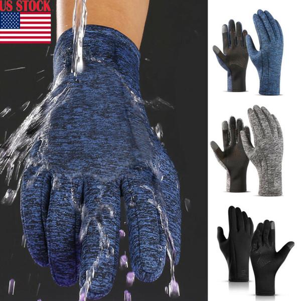Winter Touch Screen Outdoor Driving Windproof Waterproof Men Women Gloves Hot