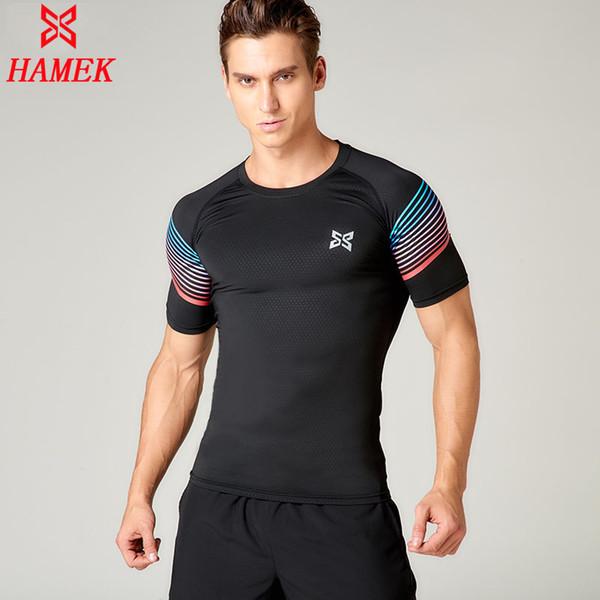 Survetement football soccer jerseys 2017 Men Pro Quick Dry Compression Running T Shirts Yoga Tights Fitness tops short sleeve C18112201