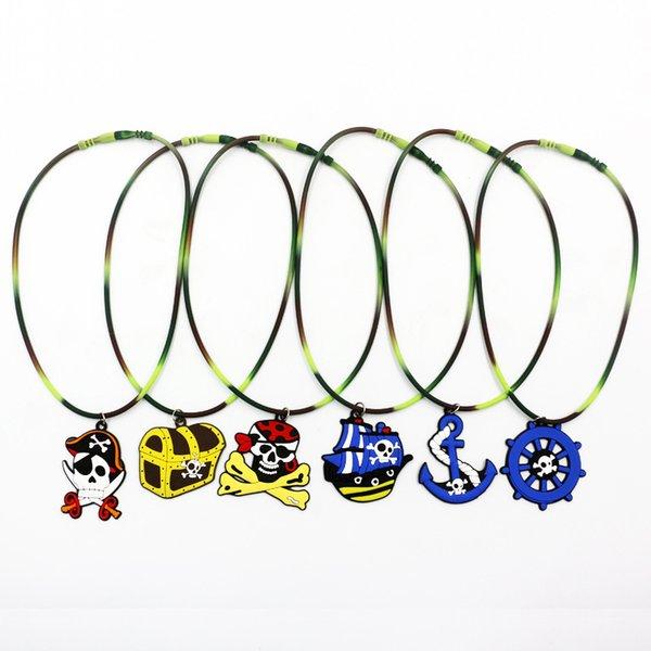 Colgante de unicornio Rainbow Horse Collares Collares de sirena de dibujos animados Niños Juguetes de goma Fiesta de cumpleaños Niños Niñas Joyería de cadena de PVC GGA2497