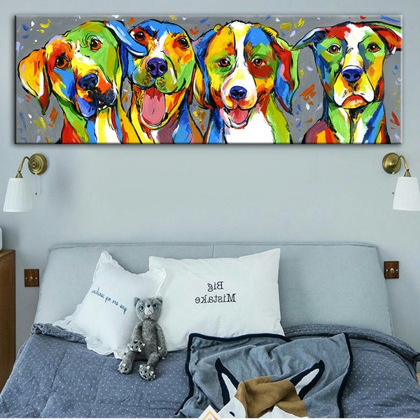 Abstract Wall Graffiti Art Canvas Prints Watercolor Animals Art Canvas Paintings On The Wall Pictures For Kids Room Decor