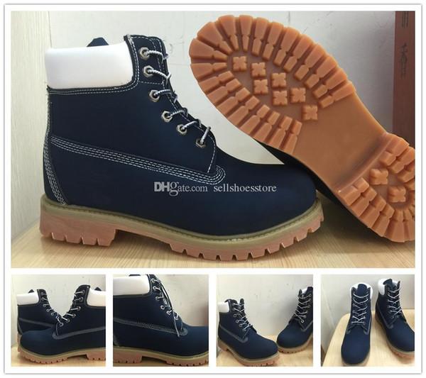 Compre Clásico De Alta Calidad Mujeres Hombres 10061 Madera Blanca Azul 6 Pulgadas Botas Al Aire Libre Alpinismo Zapatos De Marca De Lujo Árbol Grande