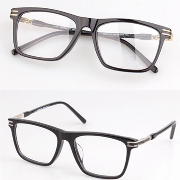 MB Marka Erkekler Optik Gözlük Çerçevesi MB0710 Kadın Gözlük Çerçeveleri Erkekler için Altın Gümüş Kaplumbağa Miyopi Gözlük Orijinal ...