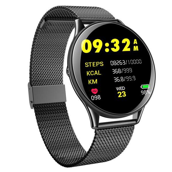 Vwar SN58 reloj inteligente Hombres Presión Arterial IP68 Reloj Rastreador de Gimnasia a prueba de agua Relojes inteligentes Para IOS Android Dispositivos Portátiles