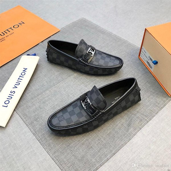 Men/'s Italian Fashion Shoes Loafers Black /& White Polka Dots by VIP collection