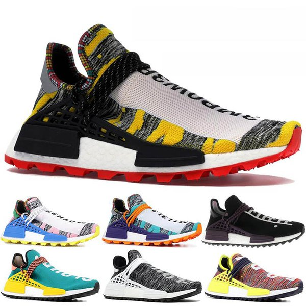 Оригинал Human Race BBC Дизайнерская обувь Pharrell Williams Hu Solar Pack Oreo Мульти мода роскошные мужские женские дизайнерские сандалии обувь