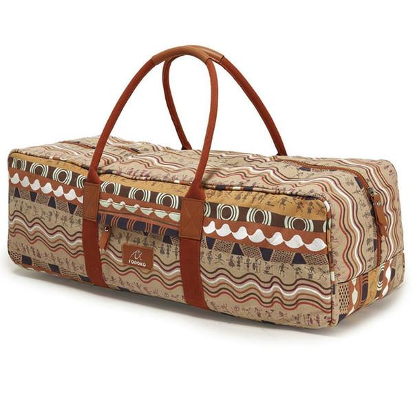 Outdoor Potable Yaga Bag Large Capacity Canvas Sports Gym Fitness Bag Yaga Mat Handbag Men Women Equipment Carrier